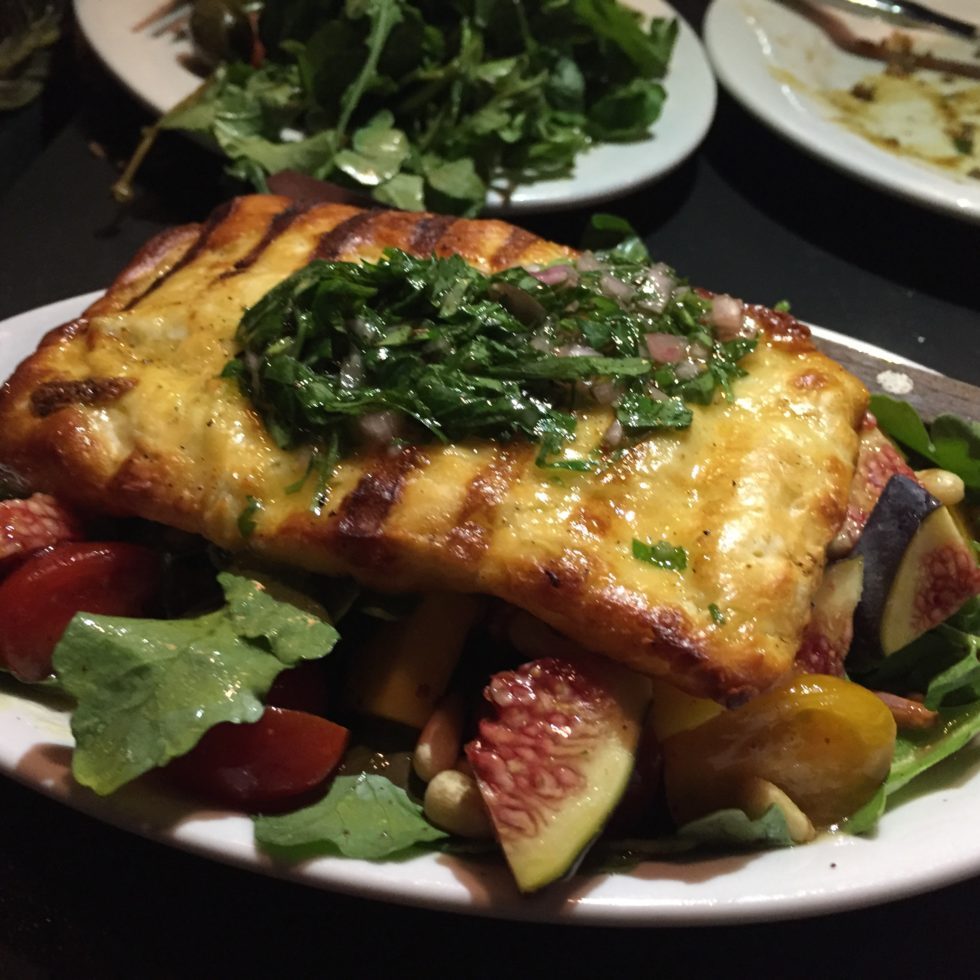 Grilled Haloumi, Fig, and Mango Salad